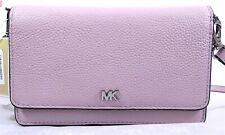 Michael Kors Pebbled Leather Phone Wallet Crossbody in Pale Lilac