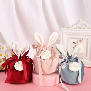 Rabbit Ears Velvet Bags Baking Easter Candy Cookie Packaging Bag