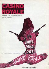 SPARTITO JAMES BOND 007  CASINO ROYALE 1967 1 EDIZIONE BURT BACHARACH