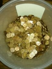 $10 Face Value Copper Pennies Hand Sorted 6lbs 1000x Coins 1959-1982