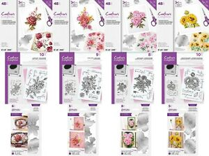 Crafter's Companion Floral Decoupage Topper Pad, Acrylic Stamps, Elements Dies