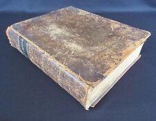 David Rutter (1820-?) & Mary Reynolds (1813-?) Family Bible PA Genealogy Fraktur