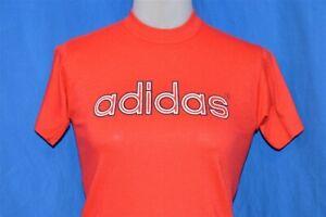 vintage 70s ADIDAS LOGO RED SUPER SOFT MADE USA 50/50 t-shirt YOUTH MEDIUM YM