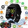 Wasserdicht Smartwatch Smart Armband Fitness Tracker Uhr Pulsuhren Sportuhr Neu