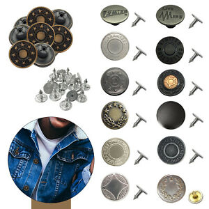 17mm No Sew Hammer Jean Button Antique Design With Pins for Denim 8pcs to 100pcs