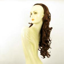 DT Half wig HairPiece extensions long wavy dark brown copper 25.6  REF :15/31