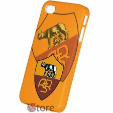 Cover Custodia Per iPhone 4S e  4 Roma Calcio Giallorossi Rigida