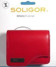 Soligor Milano I Fototasche rot / red  Tasche case poche leather - (12418)