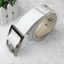 Feature Vogue Mens Womens Boys Buckles Perforated Faux Leather Buckle Belt SD