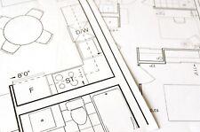 "Building Plans CAD Printed Colour 36"" A0 A1 A2 A3 A4 80gsm PDF Folded FREE P&P"
