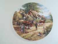"Wedgwood Plate ""MAKING THE HAYRICK"" By Chris Howells ""Country Days"" 1992"