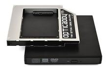 Opticaddy SATA-3 HDD/SSD Caddy+DVD Case Toshiba Tecra A10 A11 M10 M11 R850