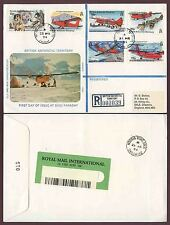 BRITISH ANTARCTIC TERRITORY TRANSPORT FDC BASE FARADAY REGISTERED 1994