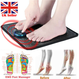 EMS Leg Reshaping Foot Massager Mat Pad Blood Relief Pain Rechargeable Adult Kid