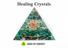 HEALING CRYSTALS Large Orgonite Pyramid Orgone Reiki Energy Quartz Malachite