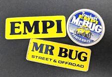 Vintage VW Treuhaft Empi Mr. Bug Power Rules Volkswagen Sticker Decal LOT