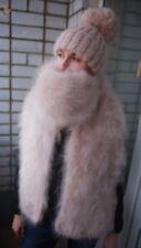 Premium Longhair Mohair Scarf hand knitting Light Beige Jane Rodas