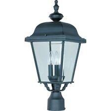 Maxim Builder Cast 3-Light Outdoor Pole/Post Lantern Black - 3008BK