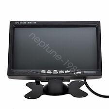"7"" LCD Monitor Display 2 RCA Video Input For Car Rear View GPS Backup Camera"
