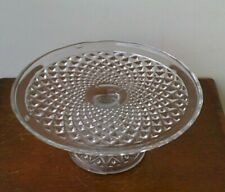 Vintage 1980's Glass Cake Stand.