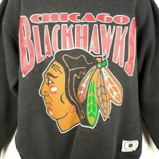 Chicago Blackhawks Sweatshirt Vintage 90s NHL Hockey Nutmeg Made In USA Size XL
