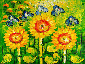 Sunflowers A1+ High Quality Canvas Print