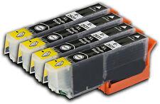 4 Photo Black Ink Cartridges for Epson Expression XP-510 XP-605 XP-620 XP-710