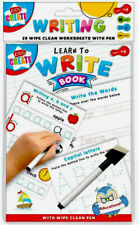 Kids Learn to Write-Alphabets Words-Wipe Clean Book With Pen-Educational Fun