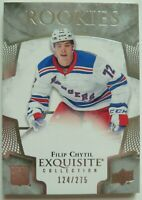 2017-18 Upper Deck Exquisite Rookies 124/275 Filip Chytil