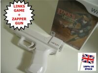 Wii Links Crossbow Training MEGA BUNDLE -  Light Gun Shooter Game + Zapper Gun