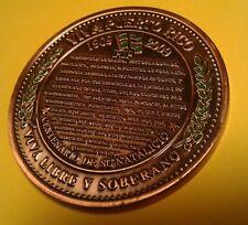 100 años GILBERTO CONCEPCION GRACIA Vega Alta Puerto Rico 2009 Rev1 Bronce 1/100