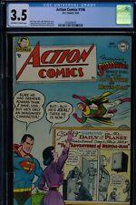 ACTION COMICS #196 - CGC-3.5, OW-W - Superman