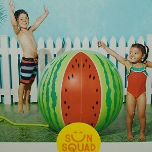 Sun Squad Giant Melon Sprinkler 3' Tall NEW NIB Inflatable Water Toy