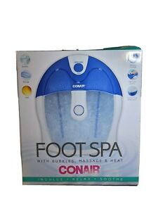 Conair Foot Spa with Bubbles, Massage & Heat NEW in Original Box!    JAN21