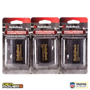 3 X RadioShack MiniDV Camcorder Cleaner HuperBrush Care Cassettes 44226 NEW