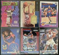 Lot of (6) Charles Barkley, Including Zensations, Prizm/Hoops parallels & insert