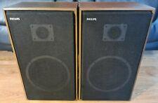 Very Rare Philips F9216/OOZ 2 Way Stereo HiFi Speakers - Made in Belguim