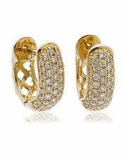18CT Yellow Gold Diamond Earrings New & Hallmarked 0.40ct