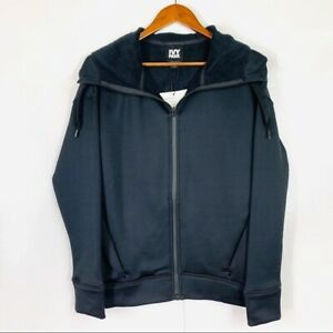 Ivy Park Logo Black Hoodie Full Zip Jacket Women's Size XS Black Heat Storing