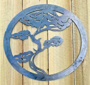 Bonsai Tree Metal Sign Wall Art CNC Sign Shed Decor Metal Plague