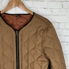 Women's Maison Scotch (M) Brown/Copper Quilted Full Zip Field Jacket Liner