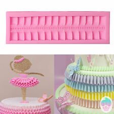 Ruffle Border Bow Silicone Fondant Mould Cake Decorating Sugarcraft Baking Mold