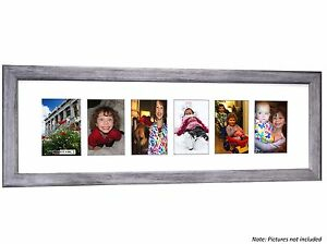 CPF - 6 Opening Glass Face Driftwood Picture Frame Holds 4x6 Photos