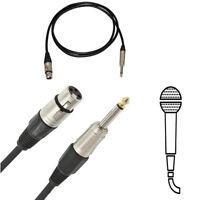 Cavo Per Microfono Xlr Femmina 3 Pin Jack Mono 6,3 Mm 3 5 o 10 Metri Cantare 690