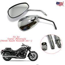 CHROME MOTORCYCLE REAR VIEW SIDE MIRRORS FOR HONDA SHADOW 750 VTX1300 CRUISER US