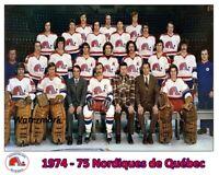 WHA 1974 - 75 Quebec Nordiques Color Team Picture 8 X 10 Photo Picture