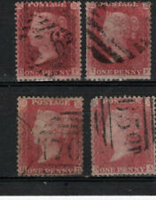 386C) 1d Red STARs C13x4 Good/Fine Used,(plated see details), GB QV Stamps