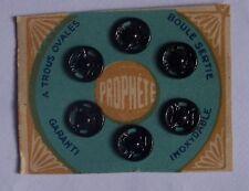 carte ancienne 6 boutons pressions 8 mm - LE PROPHETE - noir