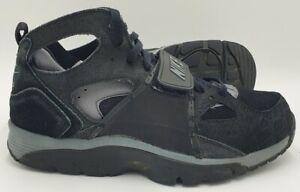 Nike Air Huarache Mid Trainers 679083-019 Black Croc UK9.5/US10.5/EU44.5