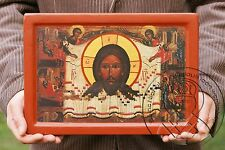 HOLY FACE JESUS icon byzantine catholic art painting gesso art religious gifts